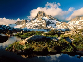 Banner Peak and Thousand Island Lake, Ansel Adams Wilderness, California